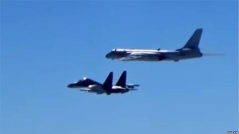 Pesawat militer Angkatan Udara China (video grab) E