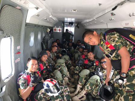 Peterjun Yontaifib-2 Mar Meriahkan Kunjungan Komandan ROKMC (TNI AL)