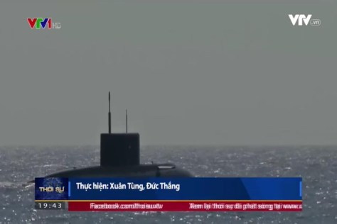 The Vietnamese Navy's Kilo submarine fired the first 3M-54E Club-S missile (VTV1) 2