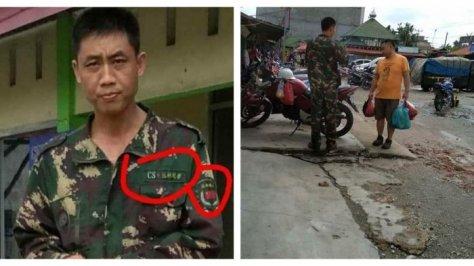 Warga Tiongkok Berseragam Militer Muncul di Pasar Kampar Riau (Twitter)