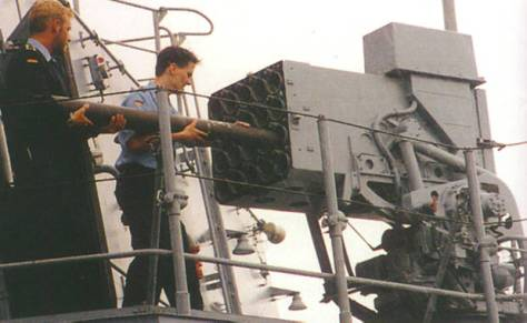 Brandenburg Class has two SCLAR decoy dispensers for chaff and infrared flares (NT)