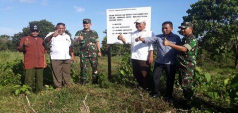 Dandim Tobelo Cek Lokasi Pembangunan Batalyon Komposit