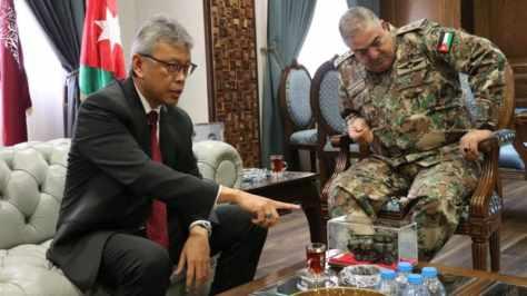 Dubes RI untuk Yordania bertemu Panglima Yordania (Dok. KBRI Amman)