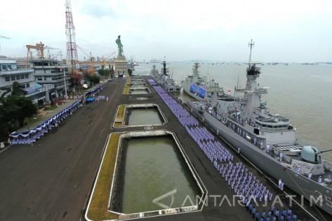 KRI TNI AL Armatim 12 (Dispenarmatim - Antara)