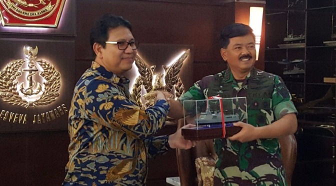 Panglima TNI Terima Kunjungan Direksi PT PAL