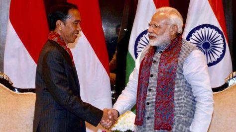 Presiden Joko Widodo dan PM Modi (Setpres)