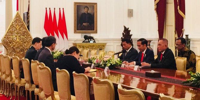 Presiden Joko Widodo Terima Delegasi Menteri Pertahanan Korea Selatan