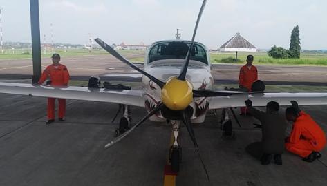 Sisbang angkatan 95 menjalani pendidikan penerbangan di Hanggar Grob Lanud Adi Soemarmo Solo. (Timlo)