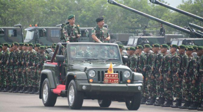 Panglima TNI Pimpin Upacara Alih Kodal PPRC TNI 2018