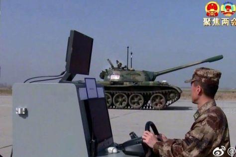 China Uji Coba Tank Tanpa Awak (Weibo)