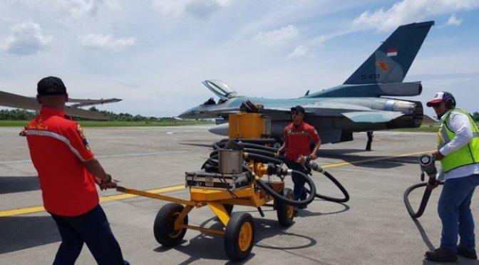 Jumlah Bahan Bakar yang Dibutuhkan F-16 Sekali Short Off