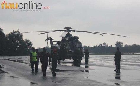 EC 725 Caracal dari Skadron Udara 8 Lanud Atang Sendjaja Bogor. (Riau Online)