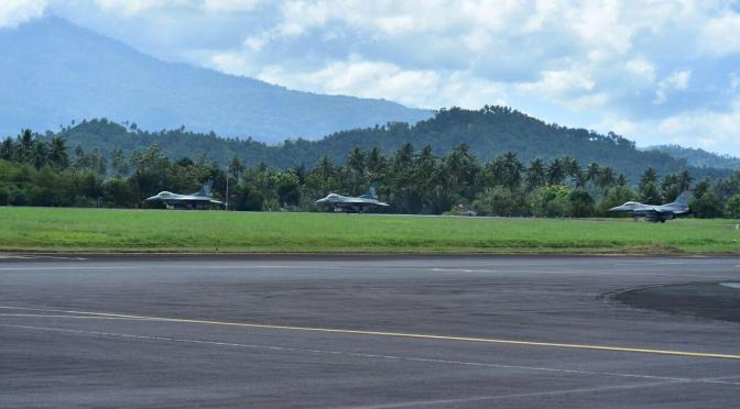 F-16 Skadron Udara 16 dan 13th Fighter Squadron Gelar Latma Cope West dan Spear Iron 2018