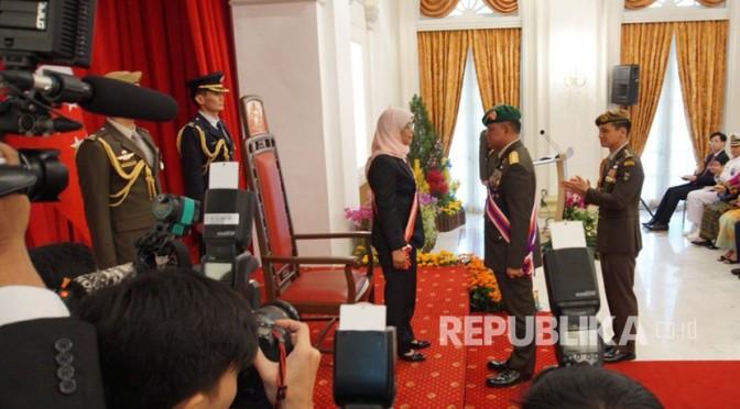 Gatot Nurmantyo Terima Penghargaan dari Pemerintah Singapura