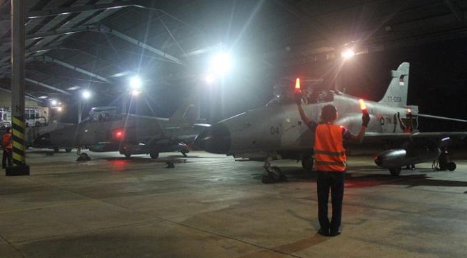 Skadron Udara 12 Gelar Latihan Terbang Malam