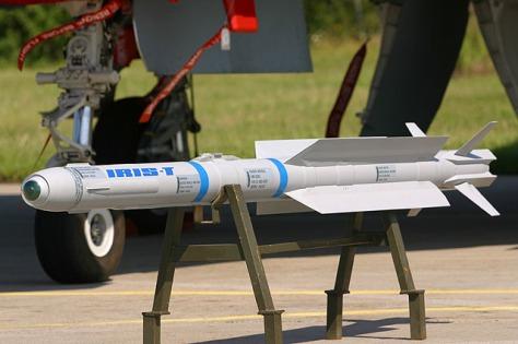 IRIS-T missile, operational range 25 km, speed mach 3 (HaraF)