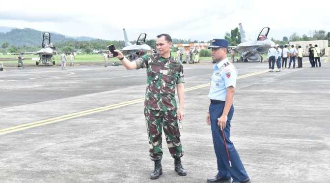 Kedatangan F-16 US Air Force Dalam Latma Cope West di Lanud Sam Ratulangi