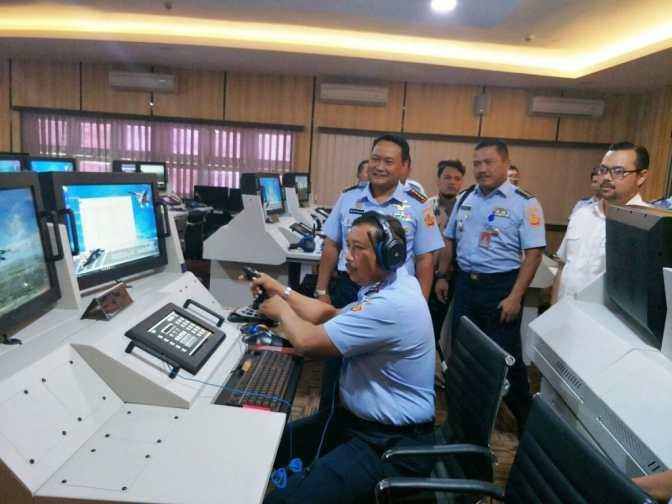 Kunjungan Kerja Pangkohanudnas Ke Pusdiklathanudnas Surabaya