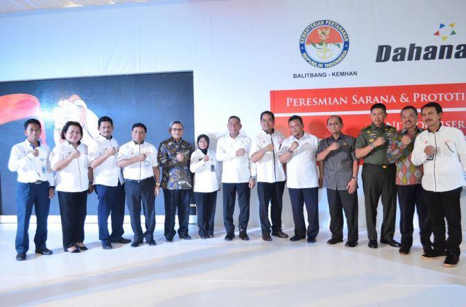 Menhan Resmikan Fasilitas Sarana & Prototipe Nitrogliserin di DAHANA