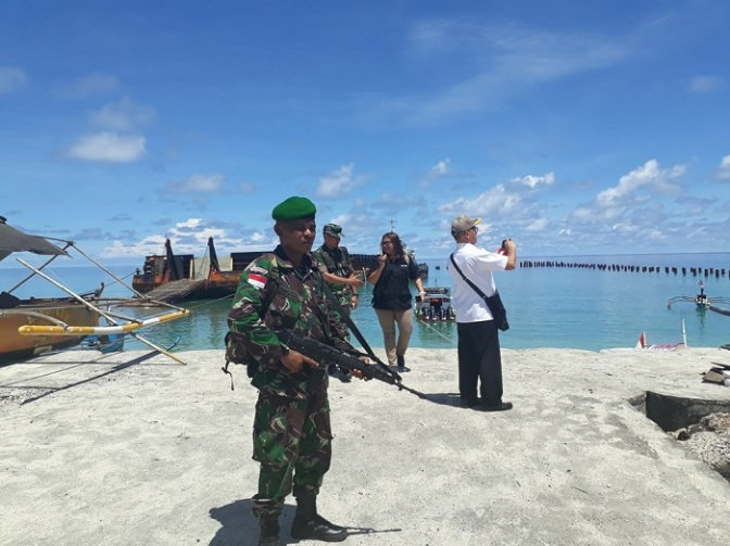 Prajurit TNI Disebar di Pulau Terluar Sulut