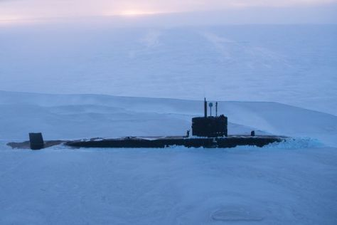 Trenchant joins US submarines USS Connecticut and USS Hartford for ICEX18, a series of demanding trials in the frigid climate of the Arctic Circle. (Royal Navy)